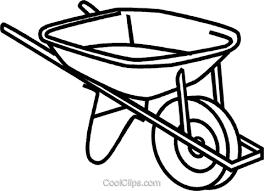 Wheelbarrow Royalty Free Vector Clip Art illustration