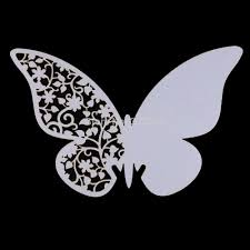 Best Multi Usage Butterfly Cut Out Place Escort Wedding Party Wine