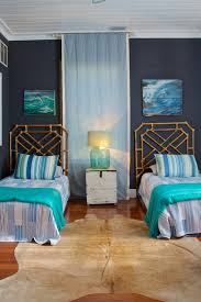 Rustic Guest Room Ideas Bedroom Beach Style With Southern Charm Tongue And Groove Ceiling Blue Bedding