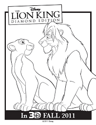 Lion King Printables Coloring Sheets Activity