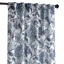 Jacobean Floral Country Curtains by Meadow Floral Curtain Indigo 84