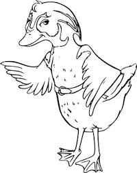Bird Duck Waving Wings White