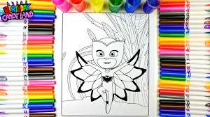 Coloring Pj Masks Owlette Pages For Kids To Learn Color BirthdayCandyLand