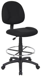 Tall Office Chairs Amazon by Amazon Com Boss Office Products B1615 Bk Ergonomic Works Drafting