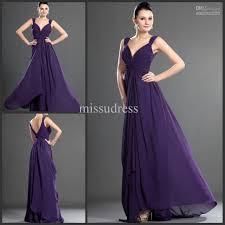 elegant purple prom dress formal lady evening dress v neck long