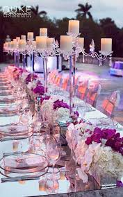 Mirrored Decor And Candelabra Centerpieces Add A Touch Of Modern Elegance To This Outdoor Reception My Big Day Events Colorado