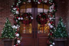 Pre Lit Entryway Christmas Trees by Christmas Porch Decorations