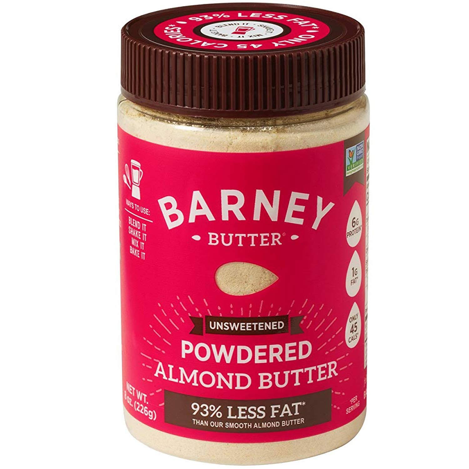 Barney Almond Butter, Unsweetened, Powdered - 8 oz