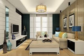 table ls and ceiling lights in living room 3d house