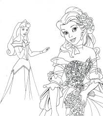 Disney Princess Coloring Pages Frozen Elsa Ariel In A Dress Baby Princesses Printable