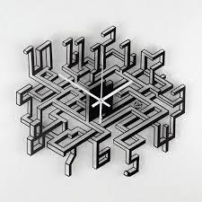 originelle wanduhr mit 3d effekt tunnel wanduhren design
