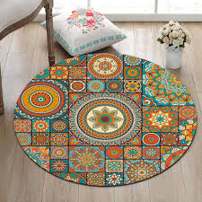 teppiche 60x60cm lb runder teppich aus mandala spielmatte