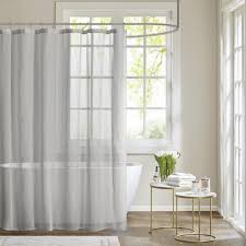 Gray Linen Curtains Target by Coffee Tables Extra Long Linen Shower Curtain Striped Shower