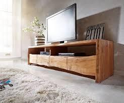 delife tv board live edge akazie braun 145 cm ablagefach