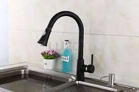 details zu edle granit küchen armatur einhand mischbatterie ausziehbarer wasserhahn schwarz