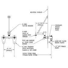Mop Sink Faucet Vacuum Breaker Leaking by T U0026s B 0699 St Wall Mount Service Sink Faucet With 8