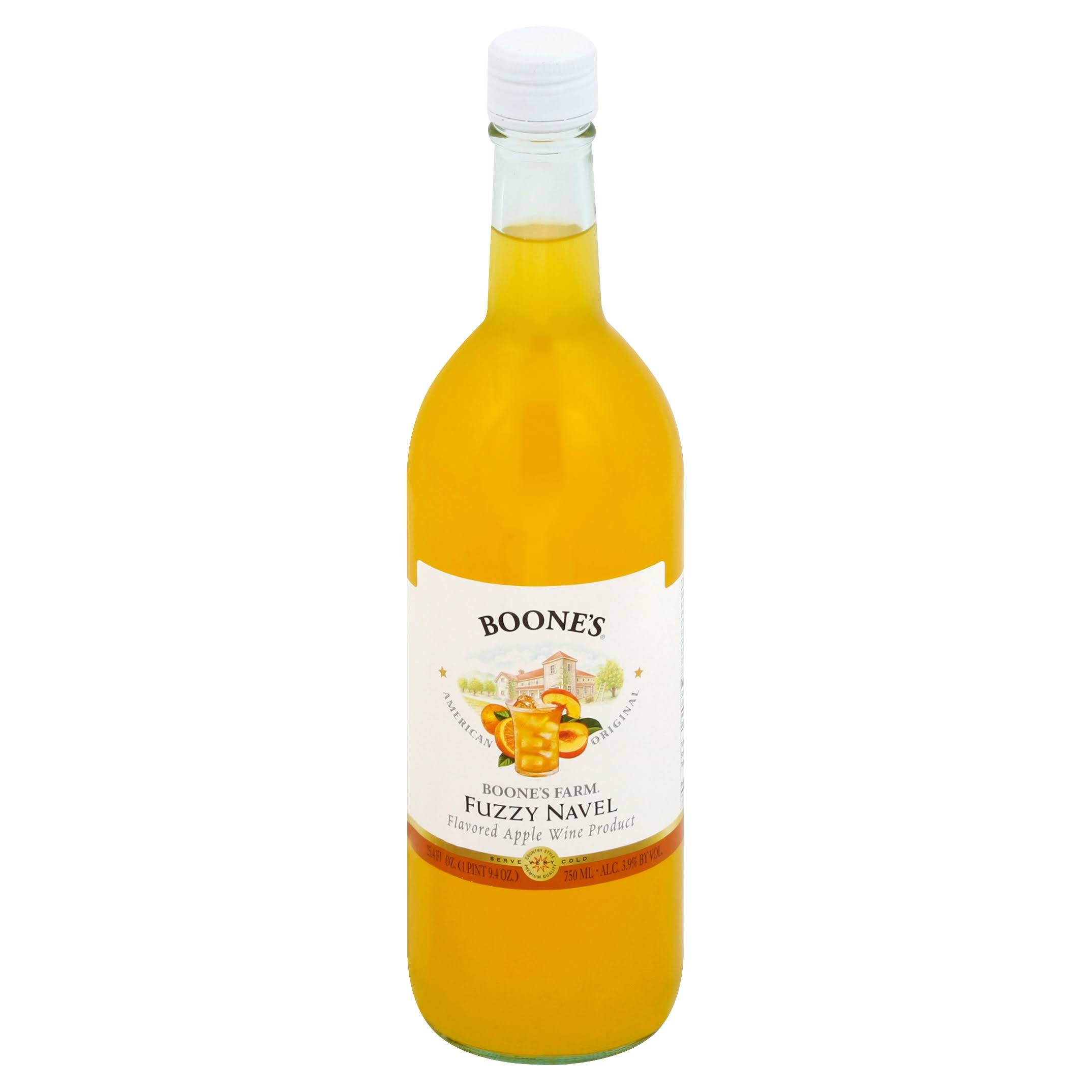Boones Farm Wine Product, Apple, Fuzzy Navel Flavored - 25.4 fl oz