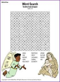 Birth Of John The Baptist Word Search