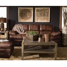 At HOME Leather Sofa In Dark Brown Nebraska Furniture Mart