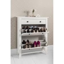 Baxton Shoe Storage Cabinet by Shoe Storage Cabinet White With Baxton Studio Simms Wood Modern In