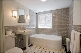 subway tile bathroom ideas white in beige with classic for