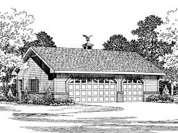 057G 0020 Country Style Three Car Garage Plan