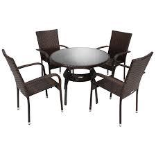 Bentley Garden Rattan Dining Set Table And 4