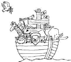 Extraordinary Design Noahs Ark Coloring Page Noah