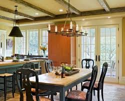 Impressive Wrought Iron Chandeliers Decorating Ideas For Dining Room Rustic Smith And Vansanat Architects Shingle Style Craftsman Painted Trim