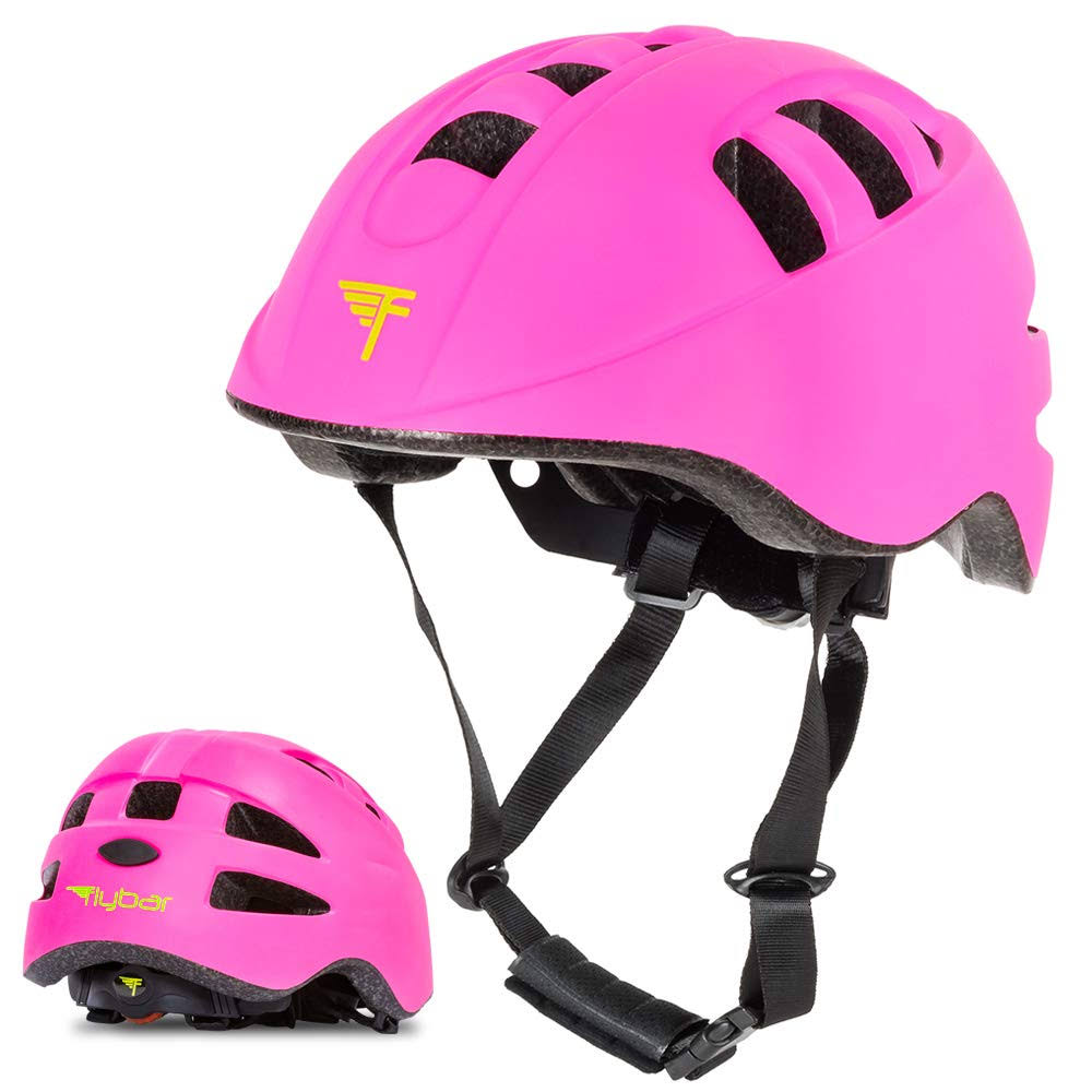 Flybar Junior Helmets for Kids (Pink, Small)