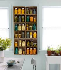 Mason Jar Food Storage In The Kitchen