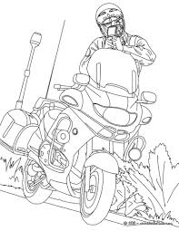 Motorcycle Police Officer Controlling Speed Traffic Coloring Page Color Online Print