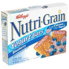 Amazon Kelloggs Nutri Grain Yogurt Bars Blueberry 104 Oz Boxes Pack Of 6 Snack Food