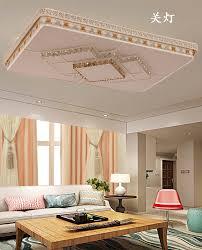 rechteckige licht luxus decke le einfache moderne led deckenleuchte schlafzimmer wohnzimmer tricolor licht stufenlose dimmen le