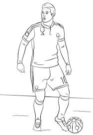 James Rodriguez Real Madrid Soccer Player Coloring Page