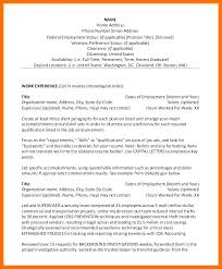 Examples Of Federal Government Resumes Resume Example Sample And With Contact Phone