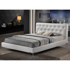 King Platform Bed With Upholstered Headboard by Bedroom Gray Fabric Platform Bed Modern Style Platform Beds King