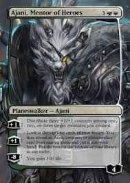 ajani mentor of heroes mtg card proxies pinterest magic cards