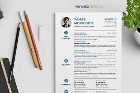 Professional Clean Resume Template Envato Elements
