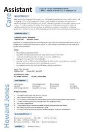 Caregiver Professional Resume Templates