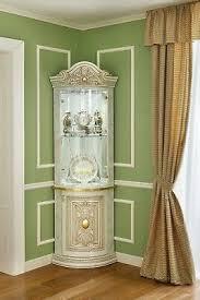 eckvitrine eckschrank wohnzimmer esszimmer leonardo hochglanz italienische möbel