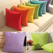 45cmx45cm solide wildleder nap kissenbezug bett sofa dekokissen fall wohnkultur kissen ist nicht enthalten wish