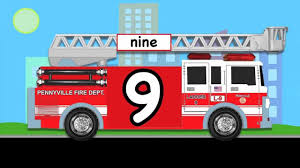 Learn Numbers Fire Truck #1 -