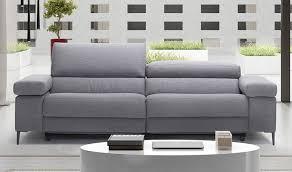 canape tissu design canapé style scandinave en tissu 2 places assise relax réglable