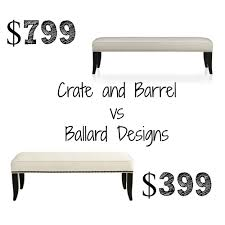 Crate And Barrel Colette Bed by Crate U0026 Barrel Decor Look Alikes