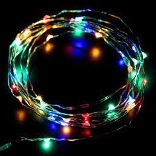 10ft 3m 30LEDs RGBY Fairy LED Wire String Lights