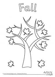 Fall Tree Colouring Page