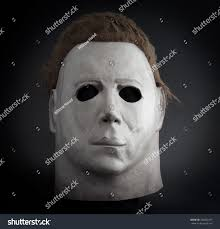 Halloween Mask William Shatners Face by Studio Portrait Michael Myers Mask John Stock Photo 704462197