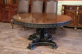Round Walnut Dining Table, Black And Gold Alhambra Finish In ...