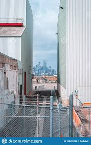 100 Warehouses Melbourne Williamstown Australia City View In Between The